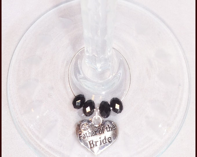Wedding Wine Charms For Mothers Of Groom, Father Of Groom, Mother Of Bride, and Father Of Bride