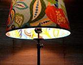 Peek-A-Boo Lamp Shade: Blue Flower Garden, Medium