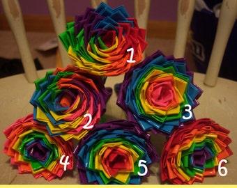 Rainbow Wheel and Rainbow Style Duct Tape Flower Pens