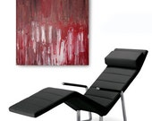 Heavy Textured Acrylic Painting, Title: Redeemed, 20x20 inch ( Red and White)