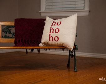 HO HO HO Christmas Throw Pillow