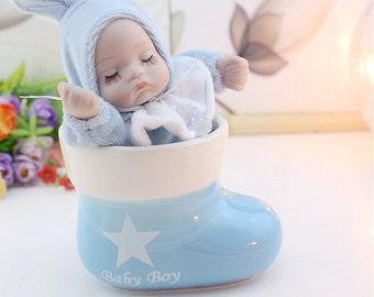 """Beautiful """"Baby Boy"""" Music Box - Blue"""