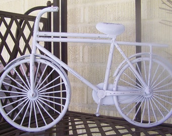 Metal Bicycle Wall Art-Painted Distressed Wall Decor-Shabby Chic Wall Decor-Boy/Girl's Room
