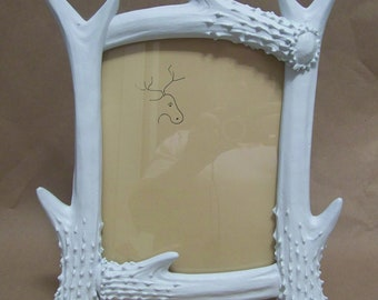 Deer Antler Photo Frame-Painted Picture Frame-Men's Home Decor-Mancave Decoration