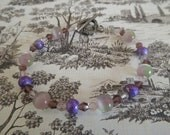 Beaded Bracelet - Purple and Green - Grapevine