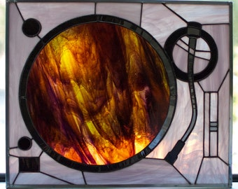 Technics Turntable in stained glass