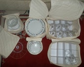 REDUCED  Muslin China Storeage Set with Stemware Box Included