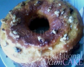 Rum Cake with Walnuts