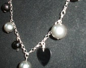 Black and Silver Charm Necklace
