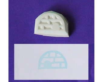 Igloo hand carved rubber stamp - handmade rubber stamp, handcarved rubber stamp, hand carved stamp, handmade stamp, handcarved stamp