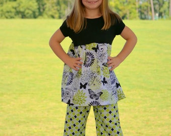Instant Download Ruffle Pants Pattern Girls size12M-6 PDF Sewing Pattern  Tutorial E Book