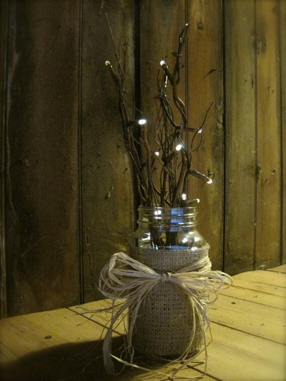 Rustic Mason Jar Lighting