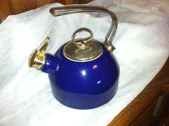 Vintage chantal teapot cobalt blue - Chantal teapots ...