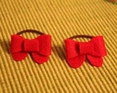 Red Bow Hair Tie