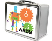 Personalized Robot Lunchbox & Memory Box - Gifts for Boys