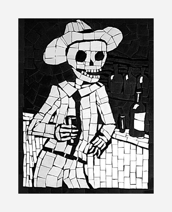 Day of The Dead Dad Day of The Dead Print Gift