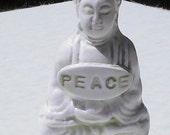 Miniature Polymer Clay Zen Buddha Statue Sculpture