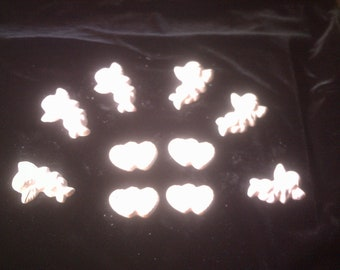 Cherubs and Hearts Unpainted Plaster Craft