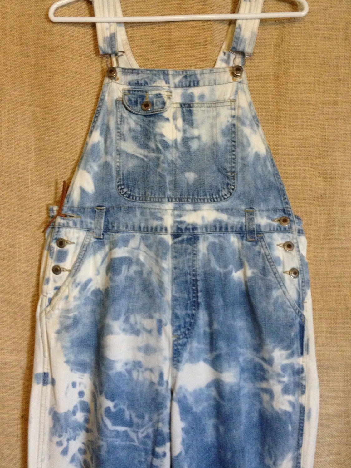 Overalls Are Making A Comeback As The Latest Fashion Trend: 80s Denim Stonewashed Overalls Unisex