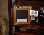 Rare solid cedar wood 8X8 size picture photo craft scrapbook frame oak finish country rustic display