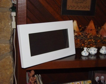 Solid wood 4x10 rare frame size picture photo craft white finish panoramic display