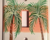 Palm Tree Switch plate Cover