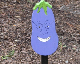 Vegetable Garden Marker - Elton Eggplant