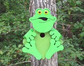 Frankie the Frog Birdhouse