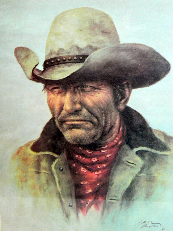 Framed Bill Hampton Rough Stock Cowboy Print By Rubesrelics