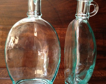 Vintage 'Back-to-Back' Blown Glass Cruets