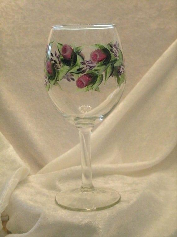 ROSE BUD wine glasses set of four