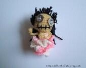 crocheted finger puppet