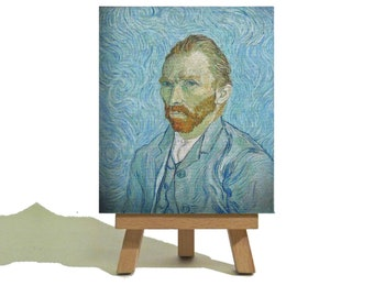 VINCENT van GOGH - Beautiful Vintage Miniature Canvas and Easel Set - The Perfect Gift