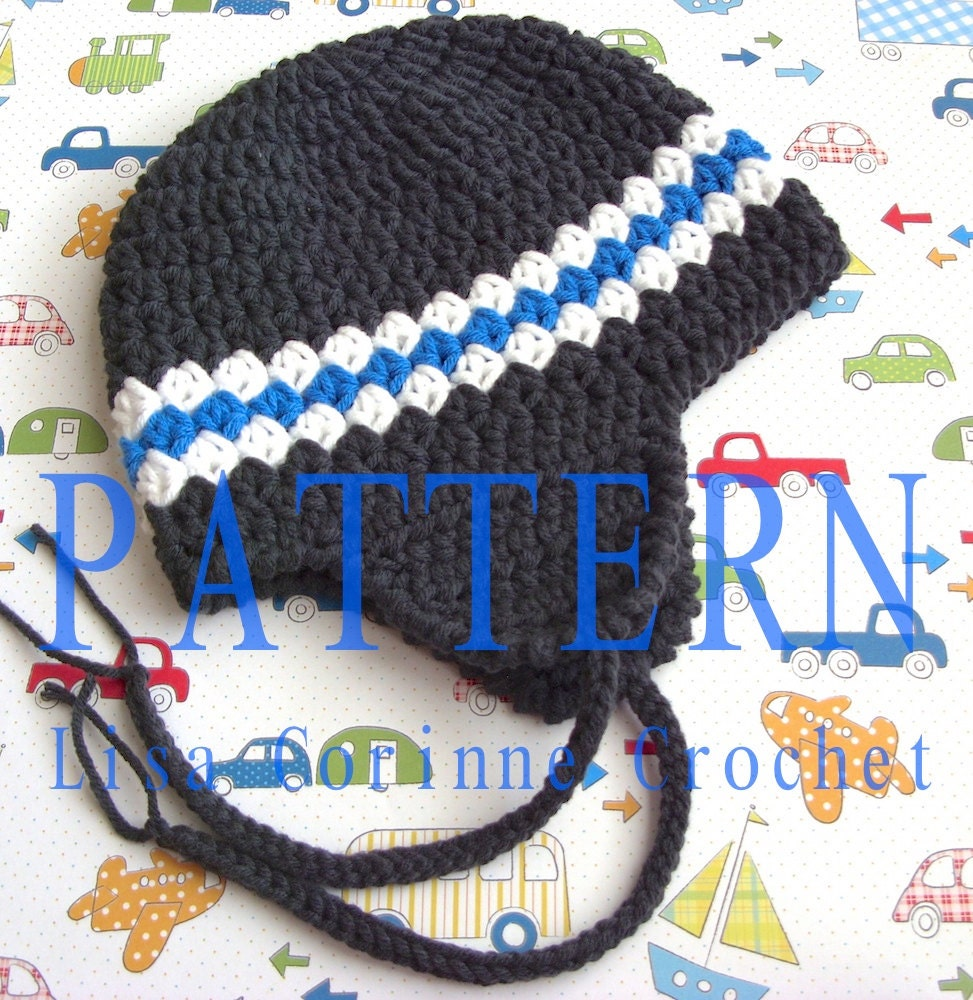 Beanie Hat Crochet Pattern For Boys Boy Earflap Hat Easy Crochet