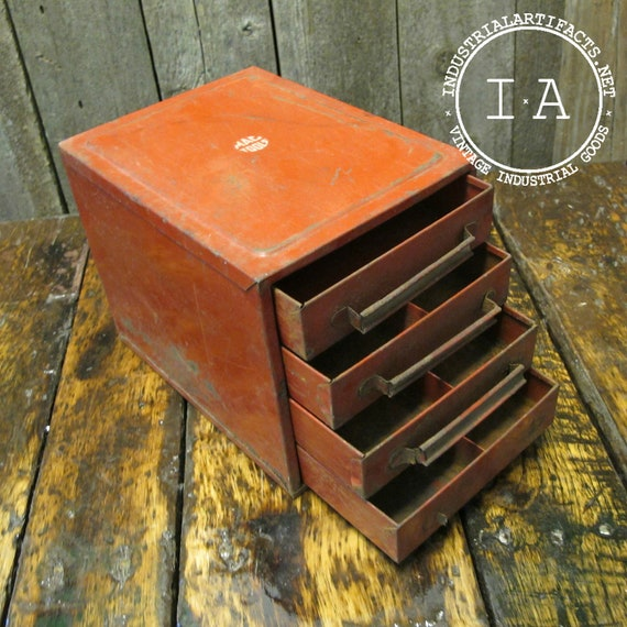 Vintage Industrial Mac Tools Desktop Tool Chest Jewelry Box
