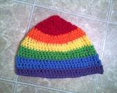 Oversized Rainbow Beanie
