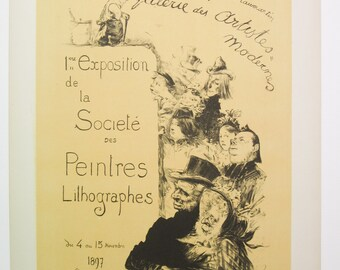 C.L. Leandre, Maitres de l'Affiche Poster, France 1900, Plate No. 206, Poster for an art exhibit in Paris.