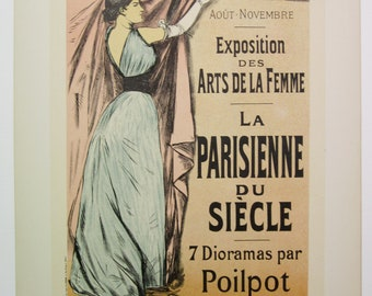 J.L. Forain, Maitres de l'Affiche Poster, French 1899, Plate No.186, Exhibition of Women's Art at the Palais de l'Industrie in Paris.