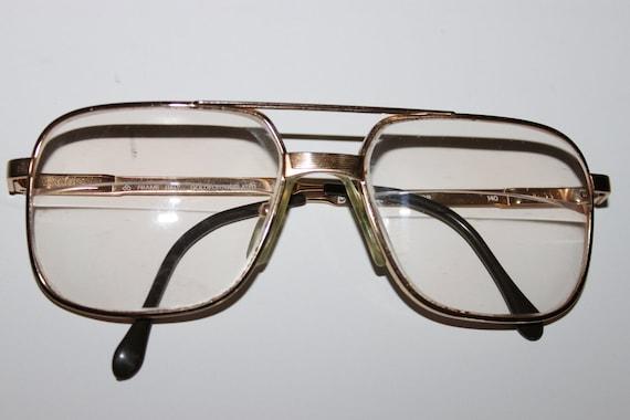 Luxottica Round Eyeglass Frames : Luxottica Director Eyeglasses Aviator Frame Gold E.P