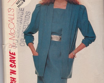 McCalls 2811 Vintage Pattern Womens Jacket and Dress Size 14 16 18 UNCUT