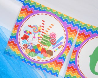 INSTANT DOWNLOAD - Candy Land Party - Printable Candy Land Banner
