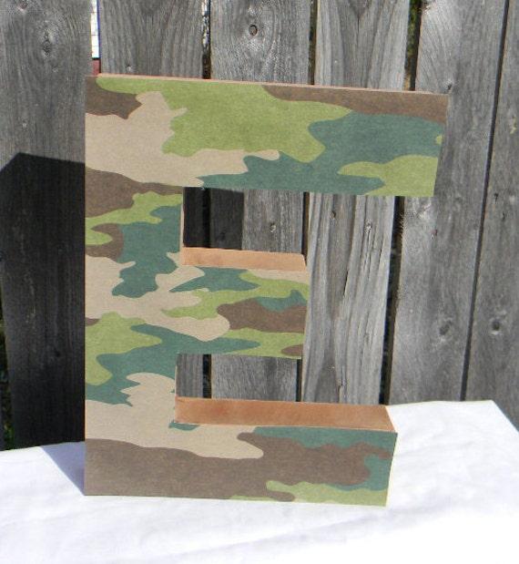 Custom paper mache letters