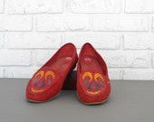 Women's size 7 Red Leather Loafer