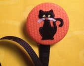 Spooky Black Cat Pacifier Clip - BaBeeBops