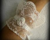 Victorian Lace Lolita Skeleton Cuffs Dia De Los Muertos