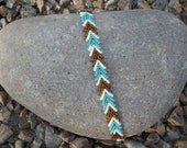 St. Petersburg Chain Bracelet, Turquoise, White, and Brown