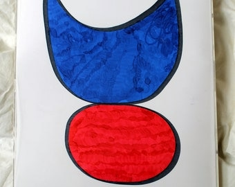Owl Blue and Red