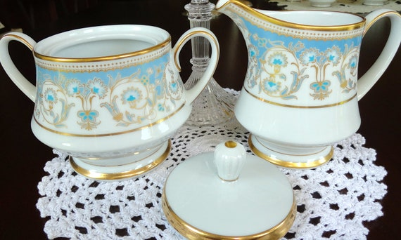 Vintage Noritake Cream and Sugar Dishes Polonaise