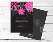 DIVINE Pink and Black Party INVITATION from The Celebration Shoppe