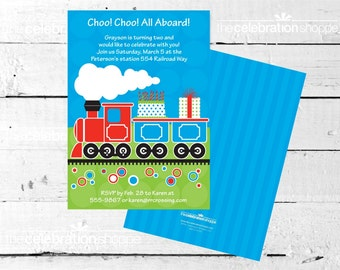 TRAIN Birthday Party Invitation - The Celebration Shoppe